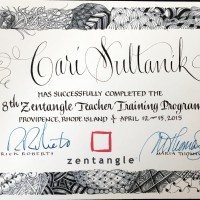 Zentangle Teacher Certificate